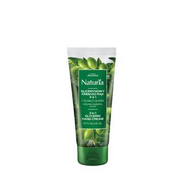 Joanna – Naturia Body Glicerynowy krem do rąk z oliwą z oliwek 3 w1 odżywia wygładza chroni (100 g)