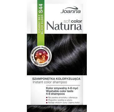 Joanna Naturia Soft Color szampon do każdego typu włosów koloryzujący S 44 czarny bez 100 g