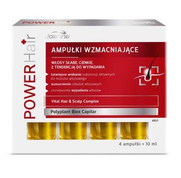 Joanna Power Hair ampułki do włosów słabych wzmacniające 10 ml x 4