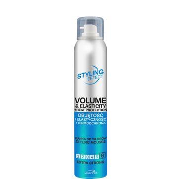 Joanna – Styling Effect Pianka do włosów objętość i elastyczność+termoochrona extra strong (150 ml)