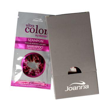 Joanna Ultra Color System szampon do włosów blond i siwych  odcień różowy (5 x 20 ml) 1 op.