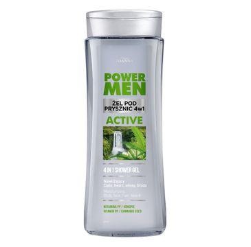 Joanna – Żel pod prysznic dla mężczyzn Power Men 4w1 (300 ml)