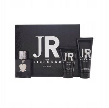 John Richmond For Men zestaw woda toaletowa spray 50ml + balsam po goleniu 50ml + żel pod prysznic 100ml