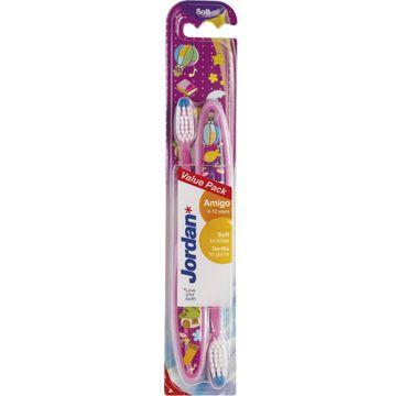 Jordan Duo Amigo szczoteczka do zębów dla dzieci (6-12 lat) soft - mix kolorów 1 op - 2 szt.
