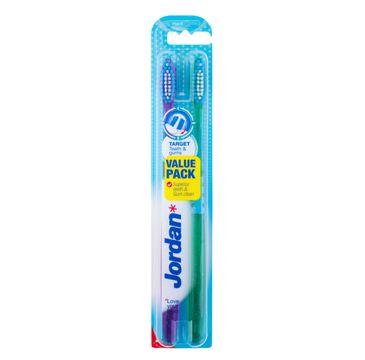 Jordan Duo Target Teeth & Gums szczoteczka do zębów hard 1 op- 2 szt.