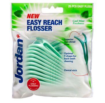 Jordan Easy Reach Flosser nici dentystyczne i wykałaczki 2w1 25 szt