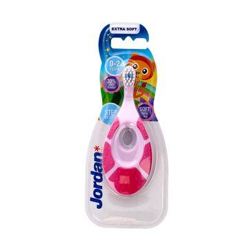 Jordan Step by Step szczoteczka do zębów dla dzieci  0-2 miękka - mix wzorów 1 szt.