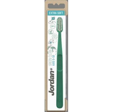 Jordan Szczoteczka do zębów dla dzieci Green Clean Ultra Soft 5-10 lat (1 szt.)