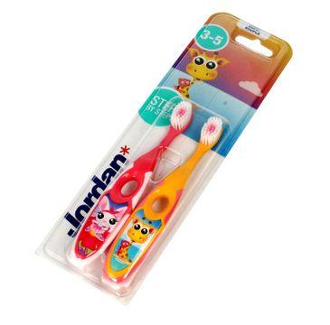 Jordan – Szczoteczka do zębów dla dzieci Step by Step 3-5 soft DUO - mix wzorów (2  szt.)