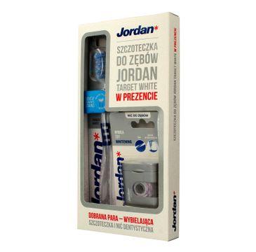 Jordan zestaw prezentowy Szczoteczka Target White + Nić dentystyczna Whitening 1 op.
