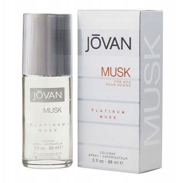 Jovan – Platinum Musk For Men woda kolońska spray (88 ml)