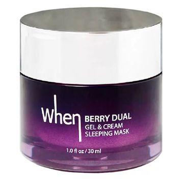When – Berry Dual Gel & Cream Sleeping mask  (1 szt.)
