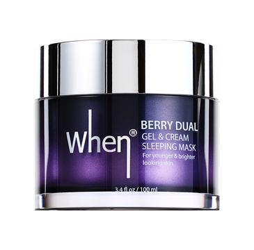 When – Berry Dual Gel & Cream Sleeping maska całonocna (100 ml)