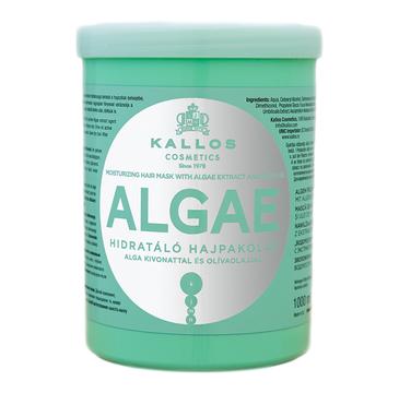 Kallos Algae Moisturizing Mask With Algae Extract And Olive Oil nawilżająca maska z ekstraktem z alg i olejem oliwkowym do włosów suchych 1000ml