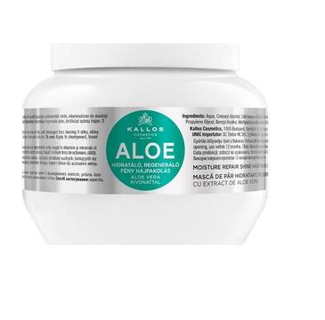 Kallos Aloe Moisture Repair Shine Hair Mask With Aloe Vera Extract regenerująca maska dodająca blasku z ekstaraktem aloe vera do włosów suchych i łamiących się 275ml