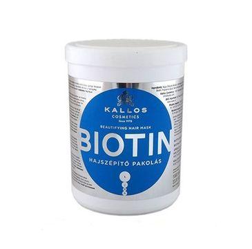 Kallos Biotin Beautifying Hair Mask upiększająca maska do włosów słabych i pozbawionych blasku 1000ml