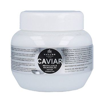 Kallos Caviar Restorative Hair Mask With Caviar Extract rewitalizująca maska do włosów z ekstraktem z kawioru 275ml