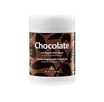 Kallos Chocolate Full Repair Hair Mask intensywna regenerująca maska czekoladowa do włosów suchych i łamiących się 1000ml