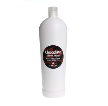 Kallos Chocolate Full Repair Shampoo regenerujący szampon czekoladowy do włosów suchych i łamiących się 1000ml