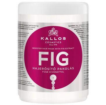 Kallos Fig Booster Hair Mask With Fig Extract maska z wyciągiem z fig do włosów cienkich i pozbawionych blasku 1000ml