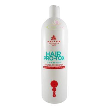 Kallos Hair Pro-Tox Shampoo szampon do włosów z keratyną kolagenem i kwasem hialuronowym 1000ml