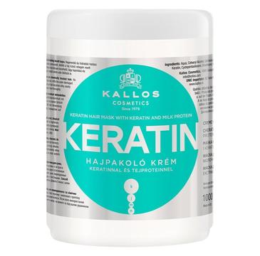 Kallos Keratin Hair Mask With Keratin And Milk Protein Maska do włosów suchych i łamiących się z wyciągiem keratyny i proteiny mlecznej (1000 ml)