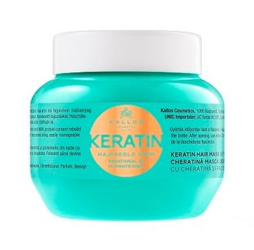 Kallos Keratin Hair Mask With Keratin And Milk Protein maska do włosów suchych i łamiących się z wyciągiem keratyny i proteiny mlecznej 275ml