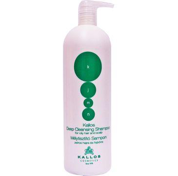 Kallos KJMN Deep Cleansing Shampoo głęboko oczyszczający szampon do włosów przetłuszczających się 1000ml