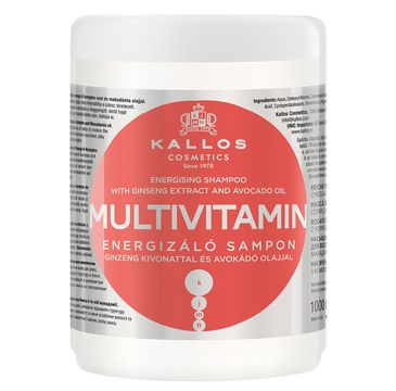 Kallos Multivitamin Energising Hair Mask With Ginsegn Extract multiwitaminowa energizująca maska do włosów z ekstraktem ginsegna i olejem avokado 1000ml