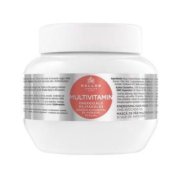 Kallos Multivitamin Energising Hair Mask With Ginsegn Extract multiwitaminowa energizująca maska do włosów z ekstraktem ginsegna i olejem avokado 275ml