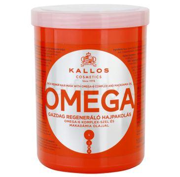 Kallos Omega Rich Repair Hair Mask With Omega-6 Complex And Macadamia Oil regenerująca maska z kompleksem omega-6 i olejem makadamia 1000ml