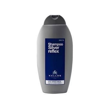 Kallos – Szampon Reflex Silver szampon koloryzujący do włosów siwych i blond (350 ml)