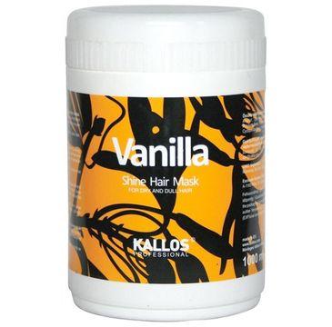 Kallos Vanilla Shine Hair Mask nabłyszczajaca maska waniliowa do włosów suchych 1000ml