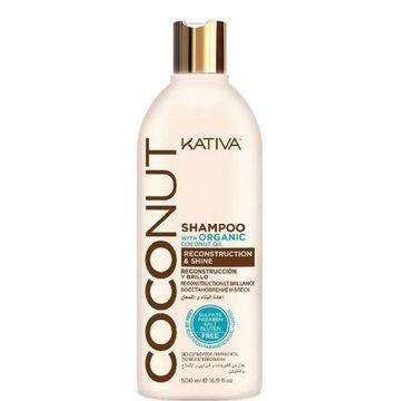 Kativa Coconut Shampoo kokosowy szampon do włosów odbudowujący i nadający połysku 500ml