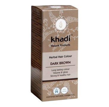 Khadi Herbal Hair Colour henna do włosów Ciemny Brąz (100 g)