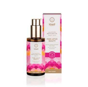 Khadi Skin & Soul harmonizujący olejek do ciała Pink Lotus Beauty (100 ml)