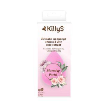 KillyS Blooming Pastel 3D Make-up Sponge gąbeczka 3D do makijażu wzbogacona ekstraktem z róży (1 szt.)