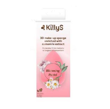 KillyS Blooming Pastel 3D Make-up Sponge gąbeczka 3D do makijażu wzbogacona ekstraktem z rumianku (1 szt.)