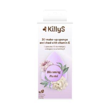 KillyS Blooming Pastel 3D Make-up Sponge gąbeczka 3D do makijażu wzbogacona witaminą E (1 szt.)