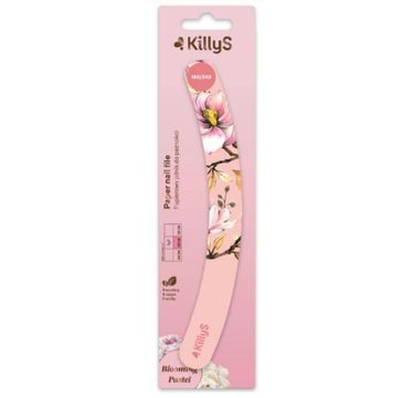 KillyS Blooming Pastel Paper Nail File papierowy pilnik do paznokci banan 180/240 Brzoskwiniowy (1 szt.)