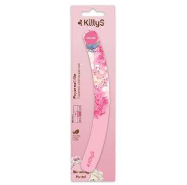KillyS Blooming Pastel Paper Nail File papierowy pilnik do paznokci banan 180/240 Różowy (1 szt.)
