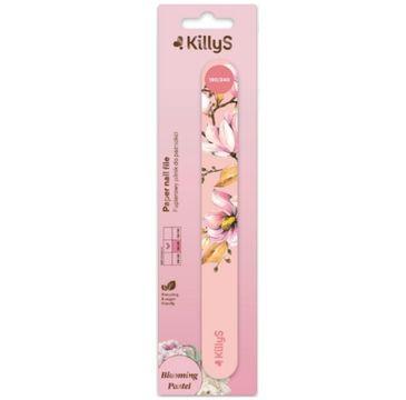 KillyS Blooming Pastel Paper Nail File papierowy pilnik do paznokci prosty 180/240 Brzoskwiniowy (1 szt.)