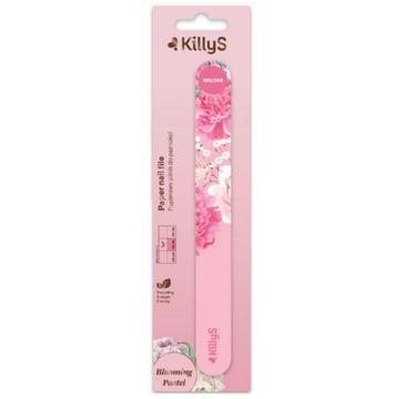 KillyS Blooming Pastel Paper Nail File papierowy pilnik do paznokci prosty 180/240 Różowy (1 szt.)