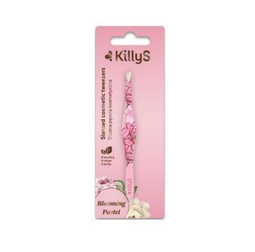 KillyS Blooming Pastel Slanted Cosmetic Tweezers skośna profilowana pęseta kosmetyczna (1 szt.)