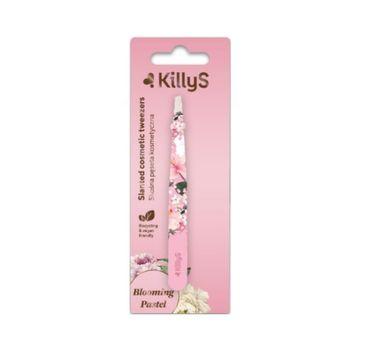 KillyS Blooming Pastel Slanted Cosmetic Tweezers skośna prosta pęseta kosmetyczna (1 szt.)