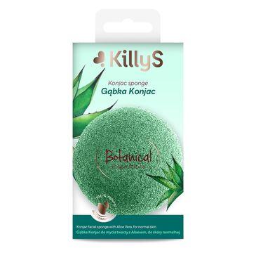 KillyS Botanical Inspirations gąbka konjac do mycia twarzy z aloesem do skóry normalnej (1 szt.)