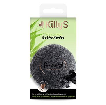 KillyS Botanical Inspirations gąbka konjac do mycia twarzy z węglem bambusa do skóry trądzikowej (1 szt.)