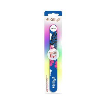KillyS Color Love pilnik do paznokci prosty 180/240 (1 szt.)