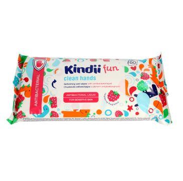 Kindii – Fun Antibacterial chusteczki odświeżające z płynem antybakteryjnym (1 op.-60 szt.)
