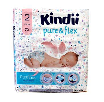 Kindii Pure & Flex Pieluchy jednorazowe 2 (3-6 kg) 1 op. - 70 szt.